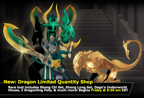new MMO rare armor item set adventure quest worlds dragon game