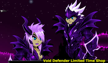 Void Defender limited time armor items swords helms