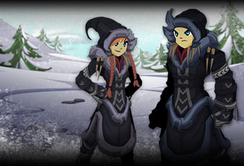Tundra Stalker Christmas Limited Time Shop items in online MMO RPG Adventure Quest Worlds