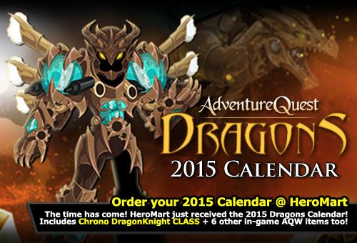 2d rpg dragons calendar 2015 geek nerd gift holiday