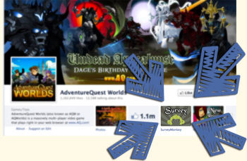 AdventureQuest Worlds Facebook survey