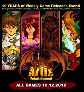 Artix Entertainment's 10th anniversary special event