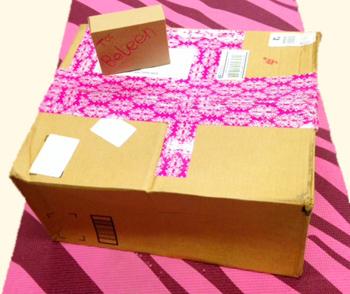 Beleen pink presents