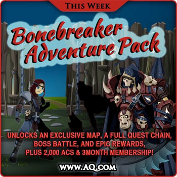 Bonebreaker Adventure Pack Expansion MMO RPG AQWorlds