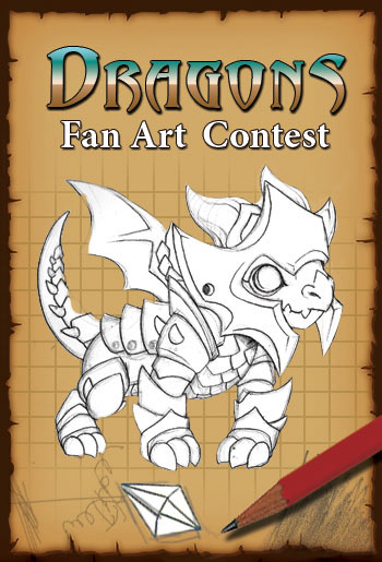 dragons fan art contest for mobile game adventure quest dragons ios android