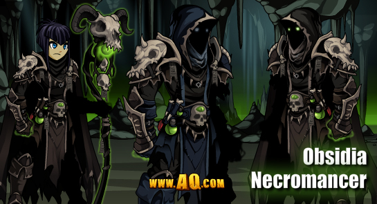Obsidia Necromancer tagged AQW Design Notes