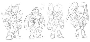 Diozz sketches for mecha items