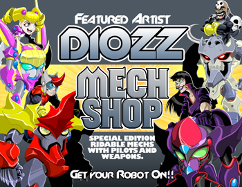 Robot Mechs in online adventure game AQW