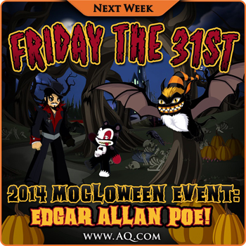 2D Browser MMORPG Edgar Allan Poe Event 2014 Halloween