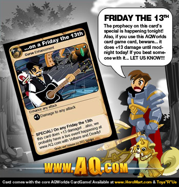Friday the 13th Card Special Effect