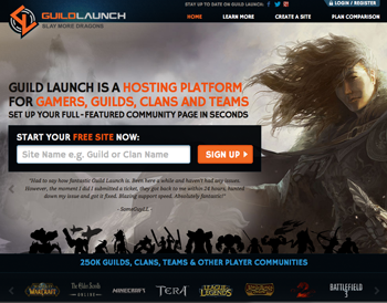 Guild Launch Homepage