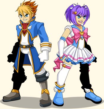 Jemini's Magical Anime characters in flash games