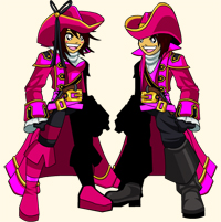 Ahoy Bubblegum Scallywag pirate in fantasy game AQW