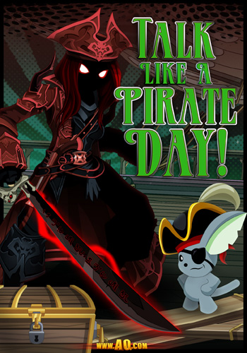 Talk Like a Pirate Day video game event MMORPG Adventure Quest Worlds