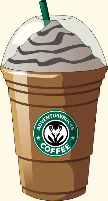 Starbucks spoof AdventureBucks Coffee Trobblechino