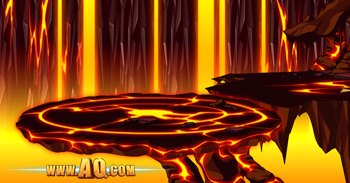 The volcanic core of the Fotia Volcano in adventure games