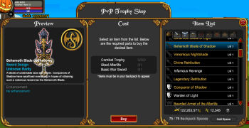 Aqworlds trading system