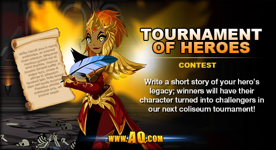 player story contest in online rpg mmo adventure quest worlds tournament of heroes