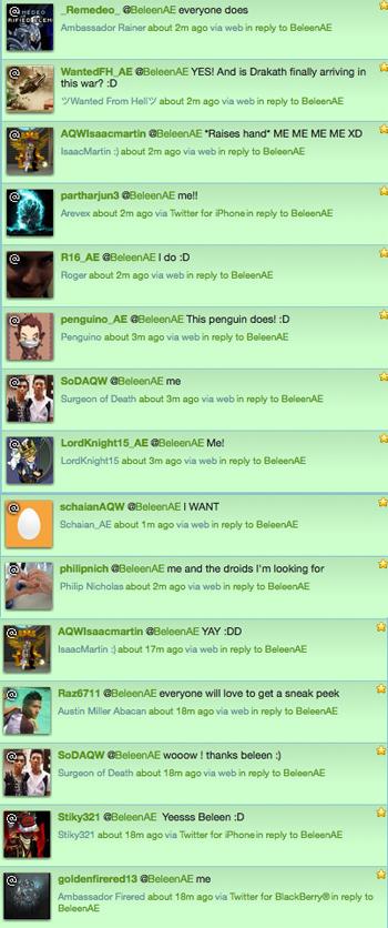 Twitter has spoken! They want sneak peeks!