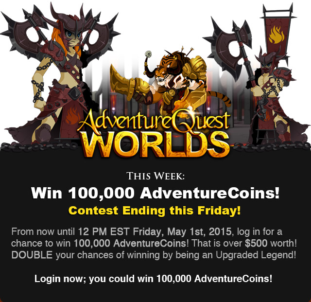 Win 100,000 Adventure Coins!